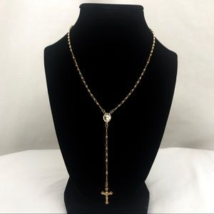 Jewelry - Baby Jesus Rosary Necklace in 18K Gold Plate